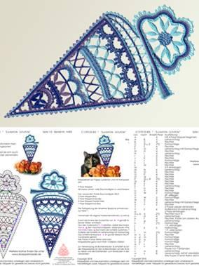 031//S Klöppeln Klöppelbrief SET Stern 3D 15cm Brief inkl.Rahmen und Einhänger